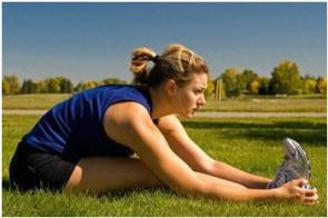 Hamstring and gluteal stretch
